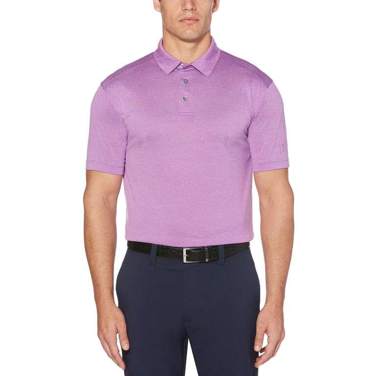 Fine Line Yarn Dyed End on End Short Sleeve Polo Golf Shirt