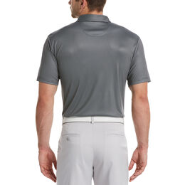 Mini Gingham Print Short Sleeve Golf Polo Shirt