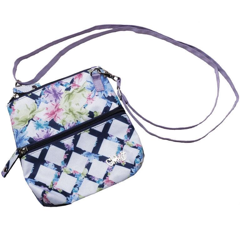 Pastel Lattice Zip Bag
