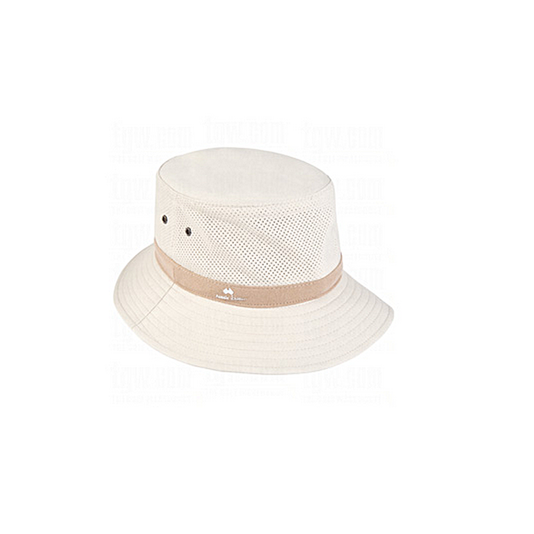 Aussie Chiller Bucket Perforated Hat- Pearl White