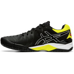 GEL-RESOLUTION 7 Men's Tennis Shoe - Black/Yellow