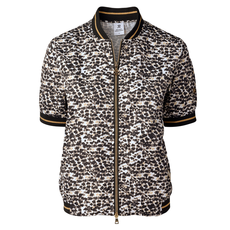 Natural Collection: Leonie Leopard Print Short Sleeve Wind Jacket