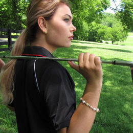 Golf Goddess Tricolor Golf Ball Bead Stroke Counter Bracelet