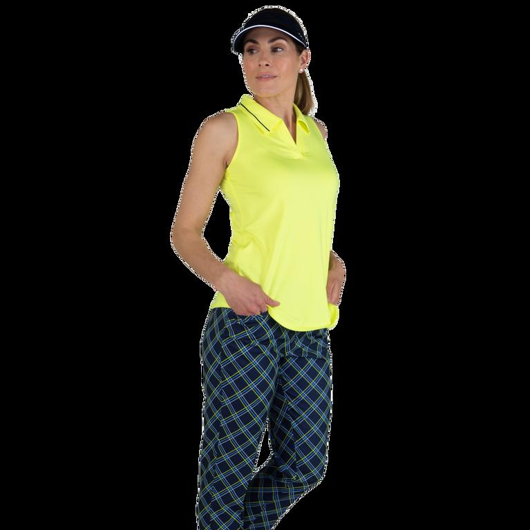 Limonata Collection: Striped Collar Sleeveless Polo Shirt