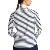 Alternate View 4 of Airflow Striped Long Sleeve Quarter-Zip Pull Over