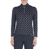 Discover Group: Long Sleeve Livcool Printed Quarter Zip
