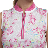 Alternate View 1 of Cheeky Collection: Sleeveless Floral Print Polo Shirt