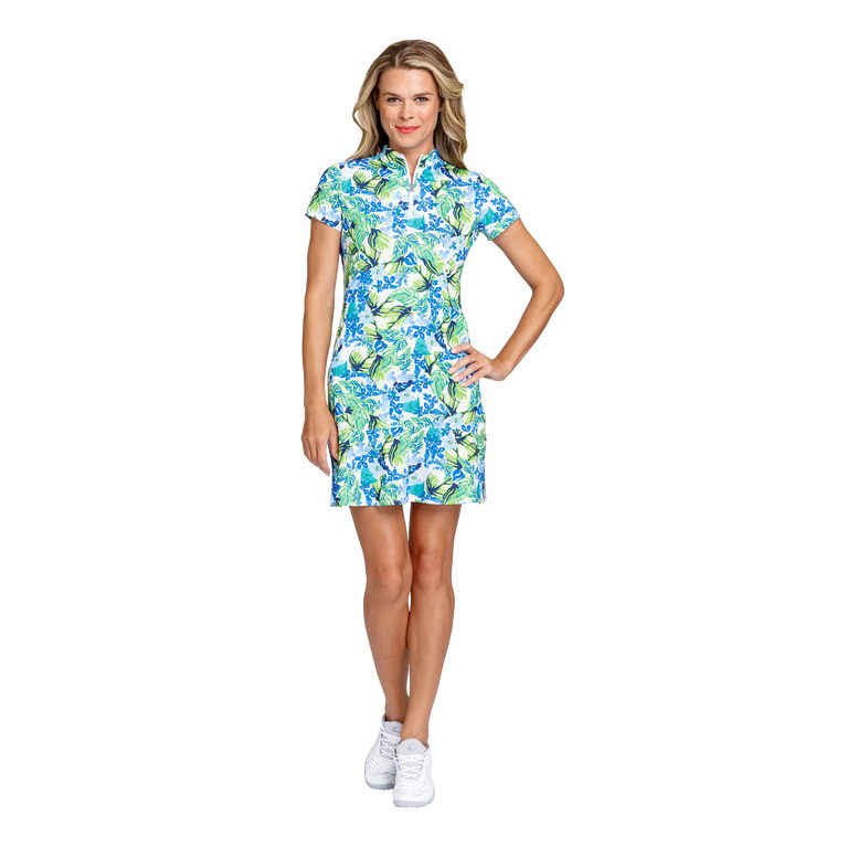 Fun in the Sun Collection: Neale Tangled Tropics Short Sleeve Dress
