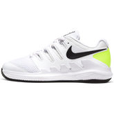 NikeCourt Jr. Vapor X Kids' Tennis Shoe - White/Yellow