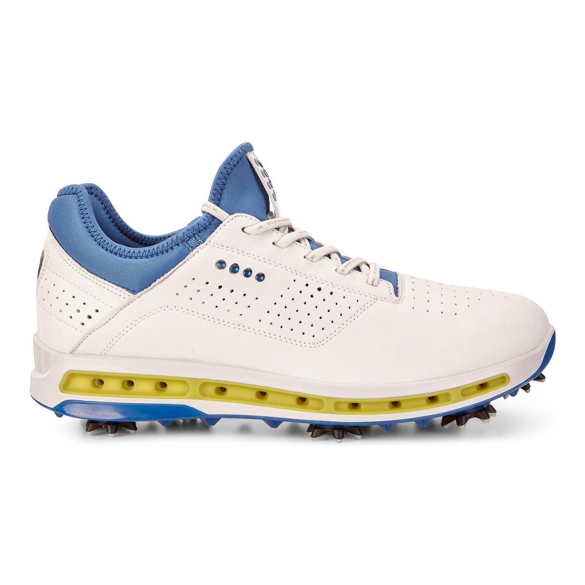 c58de223c8366 ECCO Cool 18 GTX Men's Golf Shoe - White/Blue | PGA TOUR Superstore
