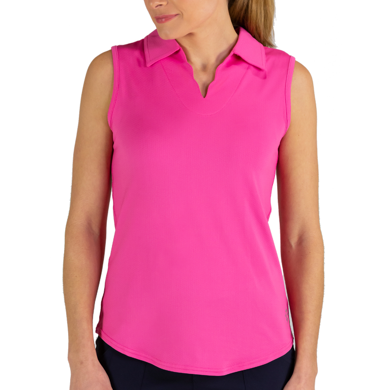 Venom Group: Sleeveless Scallop Polo