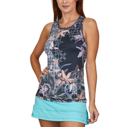 Calypso Collection: Orchid Print Sleeveless Tank Top