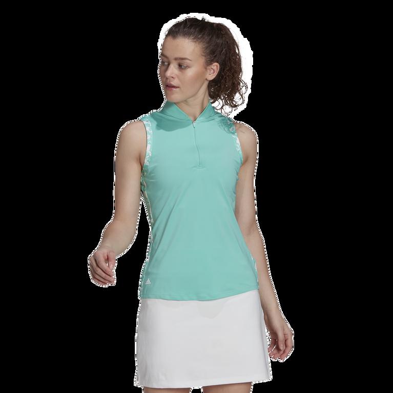Ultimate 365 Sleeveless Printed Trim Polo Shirt