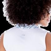 Alternate View 4 of Sportif Collection: Zebra Collar Sleeveless Polo Shirt
