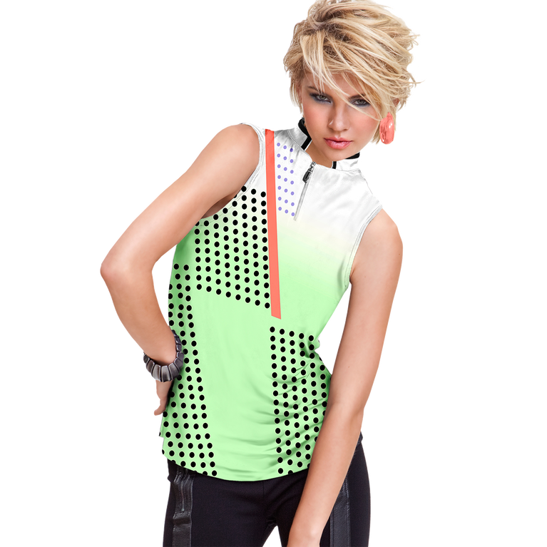 Mint Collection: Techno Print Sleeveless Top