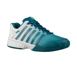 Hypercourt Express Men's Tennis Shoe - White/Teal