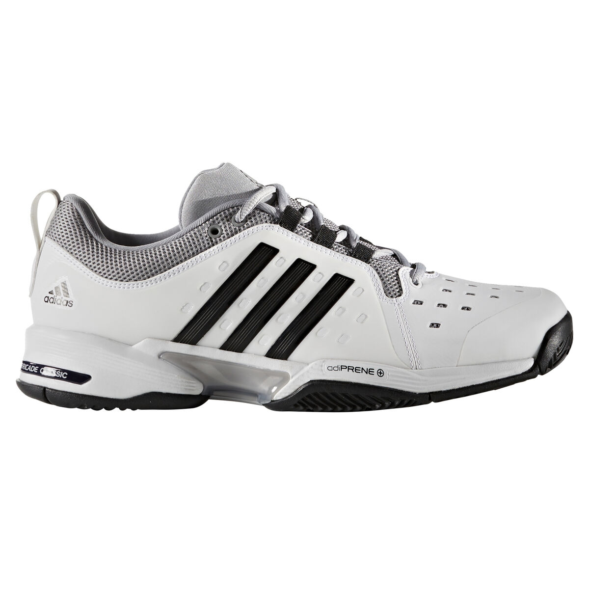 new style 5b408 c20f9 adidas Barricade Classic Wide 4E Men's Tennis Shoe - Black/Silver Zoom  Image