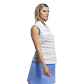 Alternate View 1 of Minted Blues Collection: Ultimate Stripe Sleeveless Polo Shirt