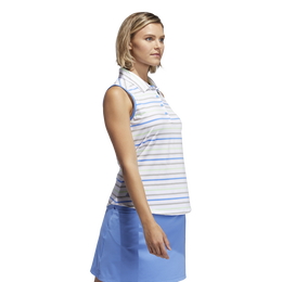 Minted Blues Collection: Ultimate Stripe Sleeveless Polo Shirt