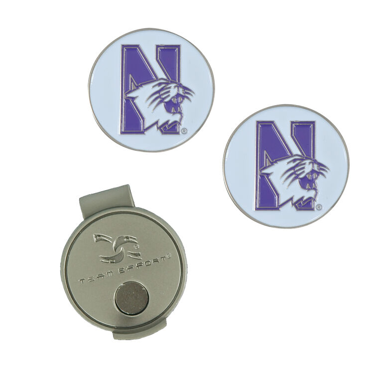 Team Effort Northwestern Wildcats Hat Clip