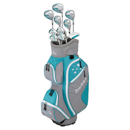 Lady Edge Women's Full Complete Set - Turquoise/White