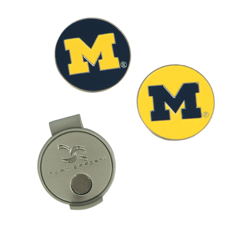 Team Effort Michigan Wolverines Hat Clip