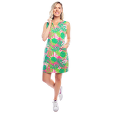 Alternate View 1 of St. Regis Sleeveless Palm Print Dress