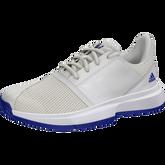 Alternate View 1 of ADIWEAR™ 6 CourtJam XJ Junior's Tennis Shoe - Off White/Royal Blue
