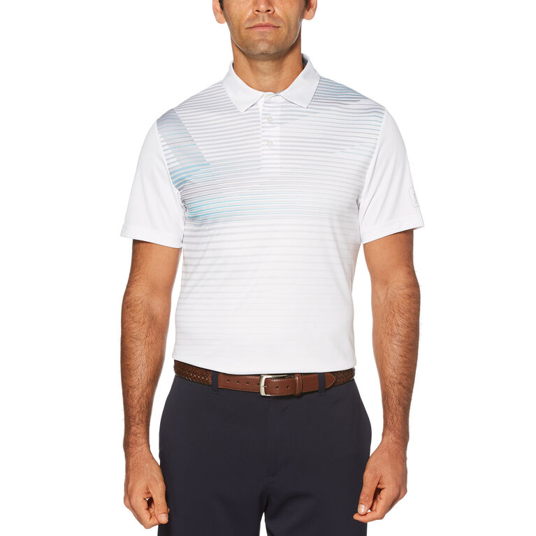 Pro Series Linear Chest Print Short Sleeve Polo Golf Shirt