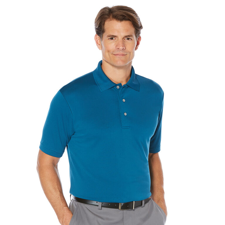 PGA TOUR Men's Short Sleeve Solid Ventilated Airflux Polo