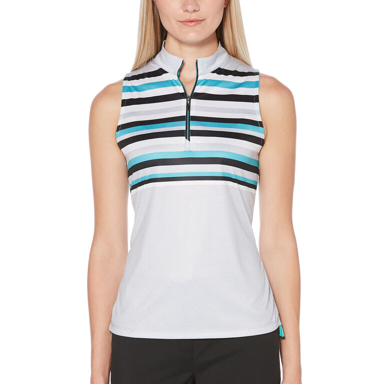 PGA TOUR Heathered Stripe Sleeveless Top