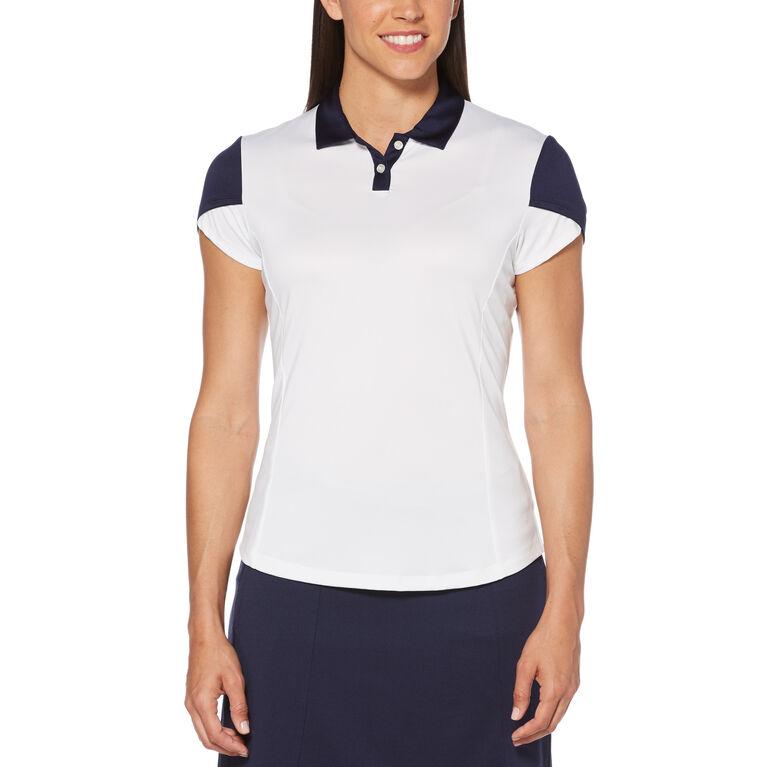 Teaberry Group: Contrast Tulip Short Sleeve Golf Polo Shirt