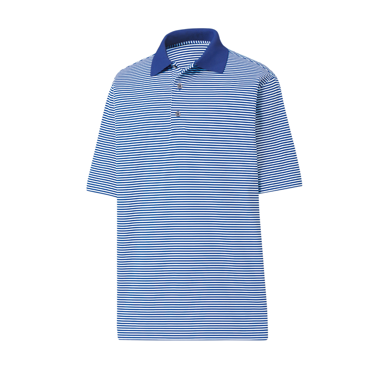 FootJoy Lisle Feeder Stripe Knit Collar Polo