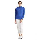 Alternate View 1 of Performance Golf Long Sleeve Tipped Quarter-Zip Pull Over
