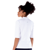 Alternate View 3 of Sylvie Elbow Sleeve Polo Shirt
