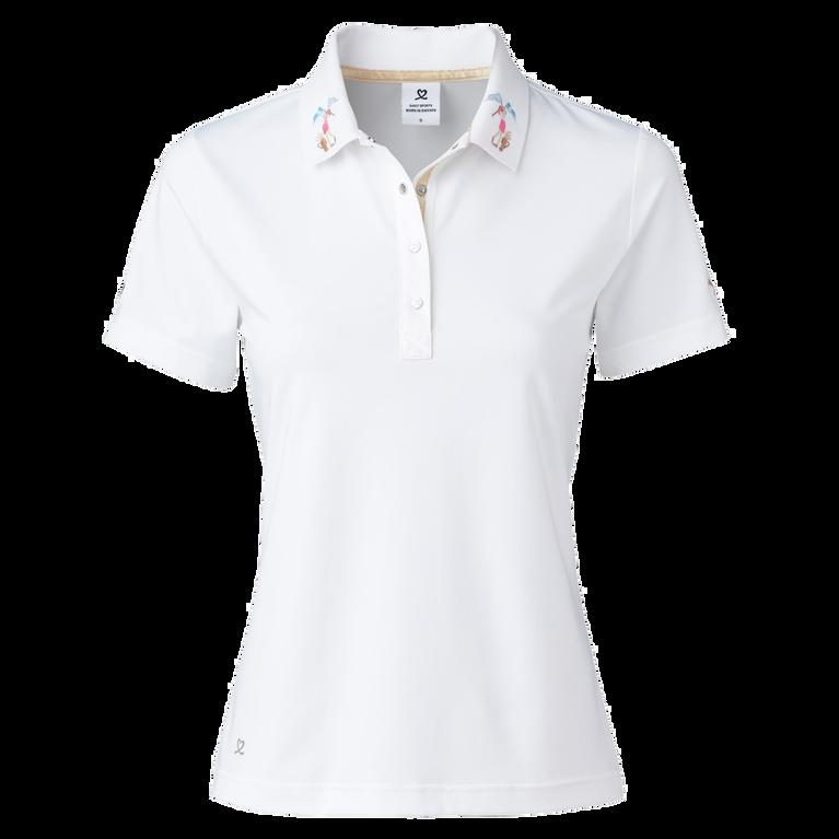 Selma  Short Sleeve Embroidered Collar Polo Shirt