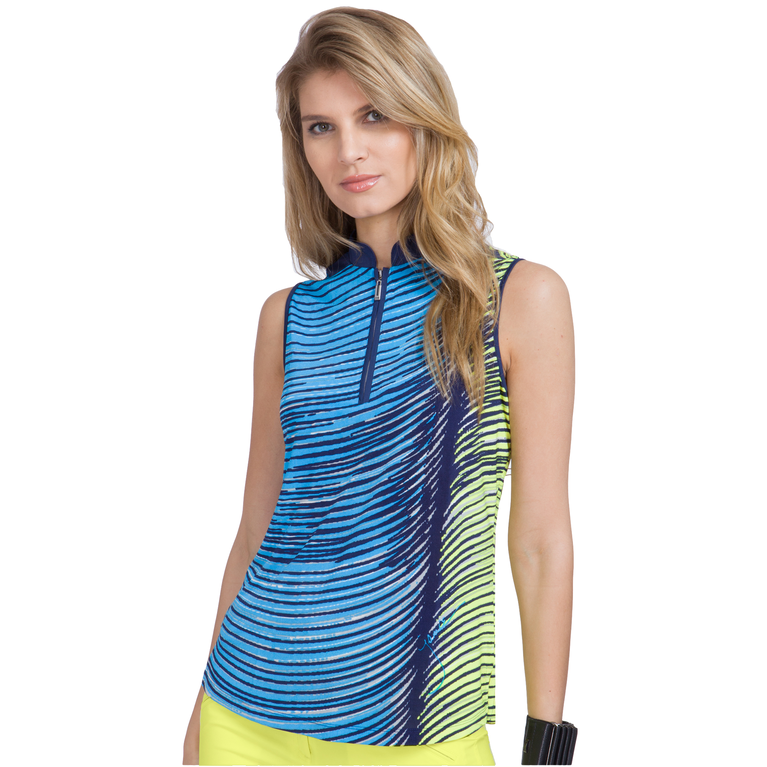 Butter Collection: Sleeveless Wave Print Top