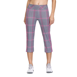Rose Garden Collection: Plaid Pull On Capri Pants