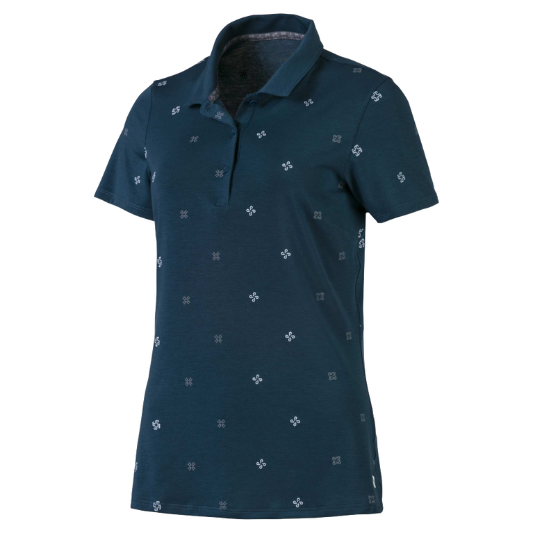 Women's Ditsy Print Polo Shirt