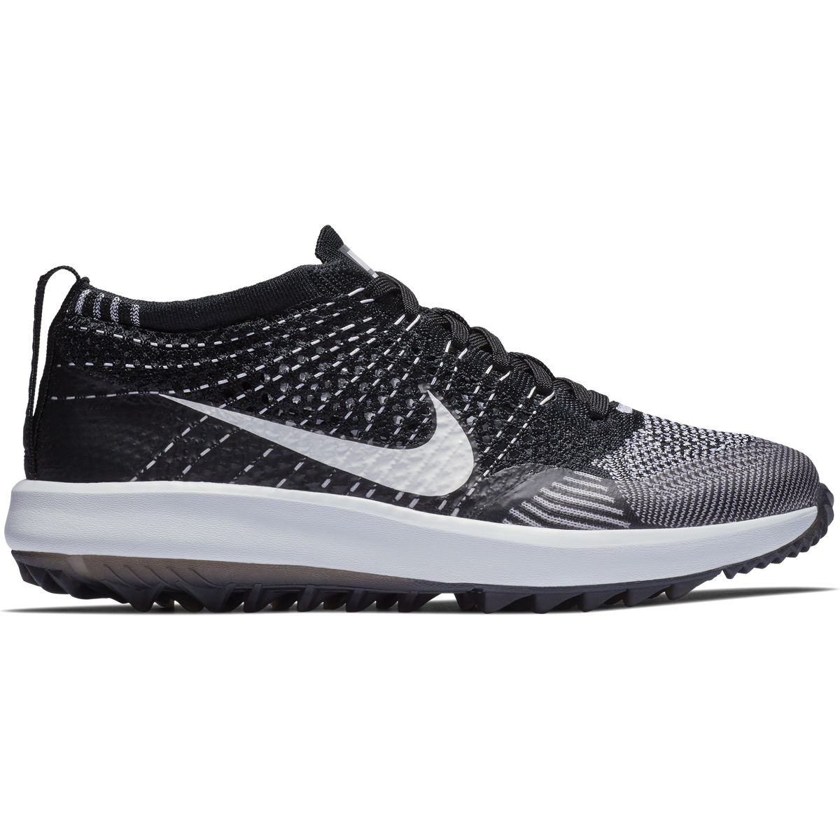 f68b3fa4115e Nike Flyknit Racer G Women s Golf Shoe - Black White