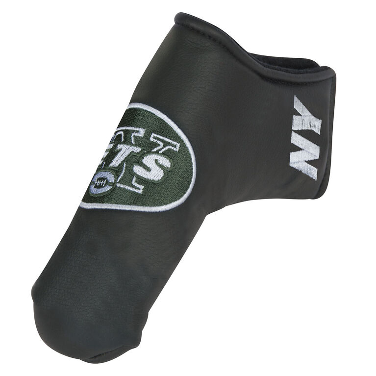 Team Effort New York Jets Black Blade Putter Cover