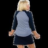 Alternate View 5 of NashVegas Collection: Ikat Print 3/4 Sleeve Polo Shirt