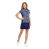 Alternate View 2 of Aspen Ray Collection: Neve Ditsy Daisy Print Short Sleeve Top