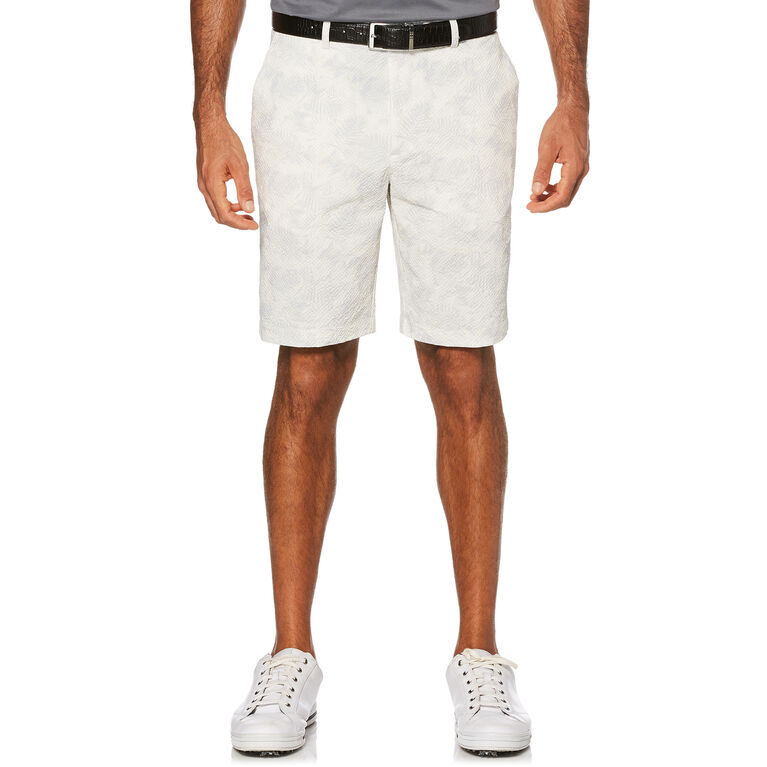 PGA TOUR Seersucker Tropical Flat Front Short with Active Waistband