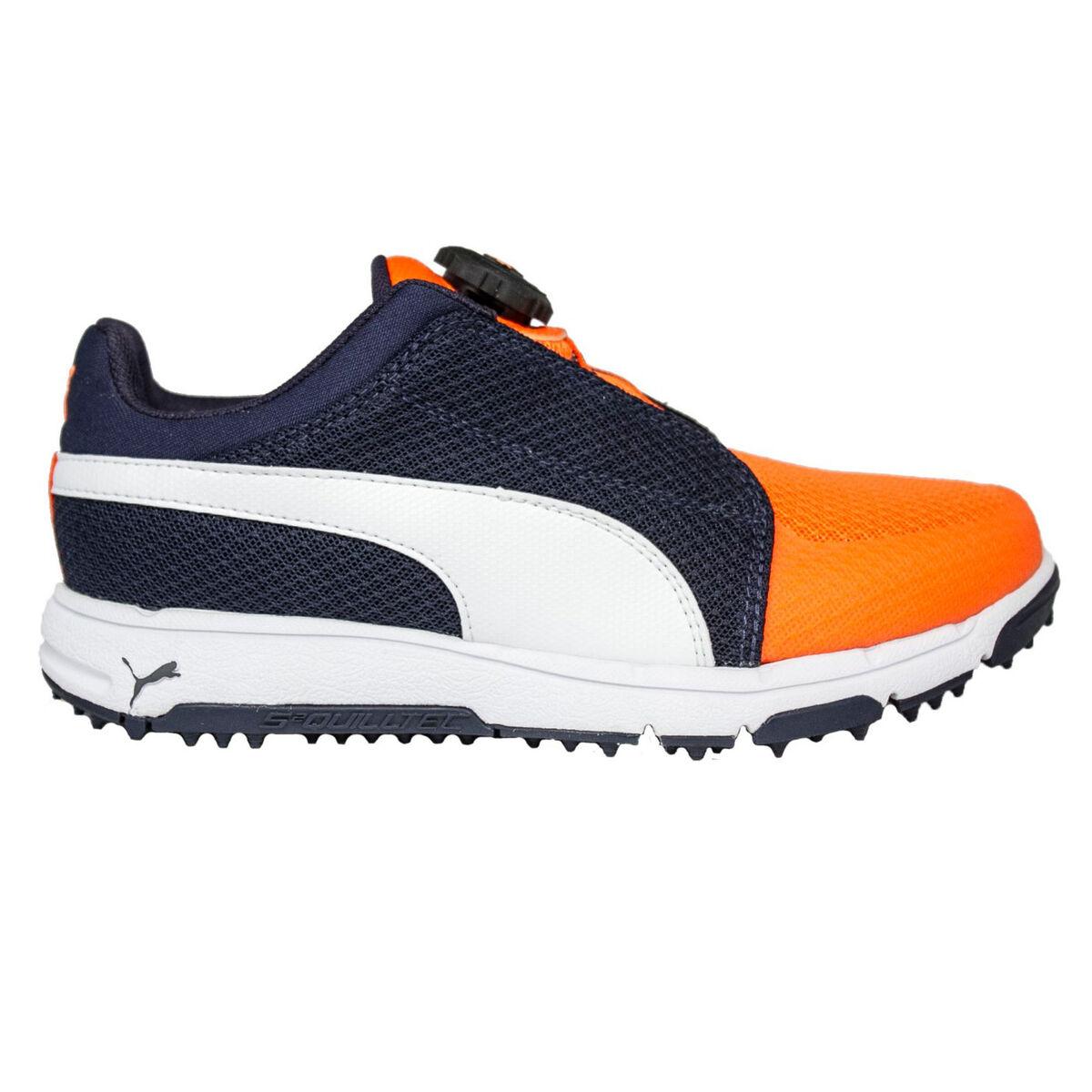 PUMA Grip Sport Disc Junior Golf Shoe - Navy White f55d59ae0