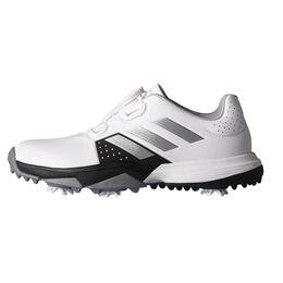 Adidas Junior Adipower BOA Juniors Golf Shoe - White/Black