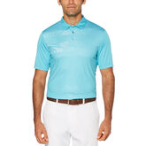 Pro Series Tropical Chest Print Short Sleeve Polo Golf Shirt