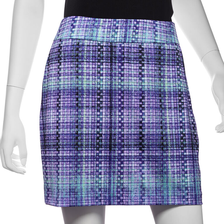 Club Med Group: Gradated Plaid Print Skort