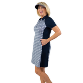 Alternate View 2 of NashVegas Collection: Short Sleeve Ikat Print Dress