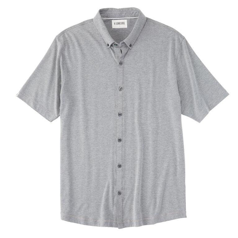 Linksoul Performance Heathered Short Sleeve Knit Shirt